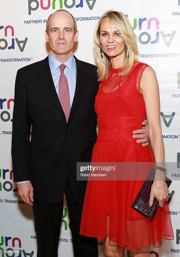 Vice chairman and global head of growth markets for Goldman Sachs, Micahel Evans (L) and wife Lise Evans attends Turnaround for Children 4th Annual Impact Awards Gala at The Plaza Hotel on April 30, 2013 in New York City.
