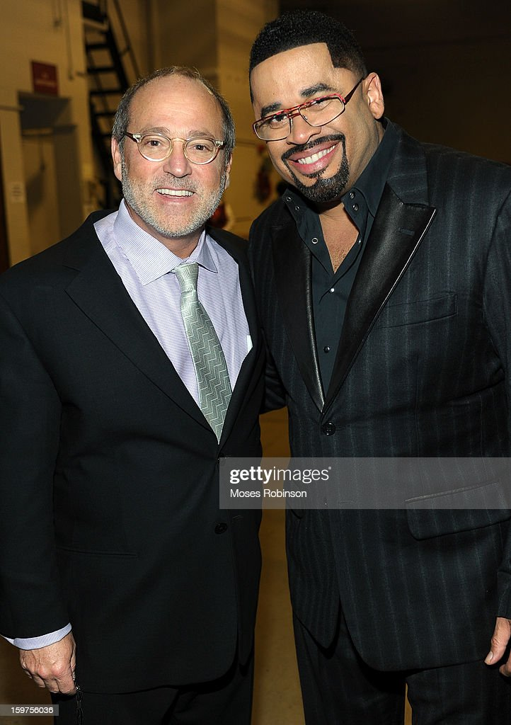 Vice Chairman Brad Siegel and Byron Cage attend the 28th Annual Stellar Awards Backstage at Grand Ole Opry House on January 19, 2013 in Nashville, Tennessee.
