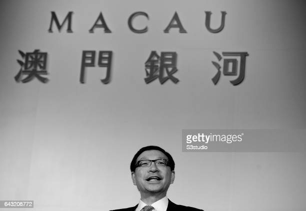 Vice Chairman of Galaxy Entertainment Group Francis Lui Yiu Tung holds a press conference on the day of the Galaxy Macau Grand Opening on Sunday May...