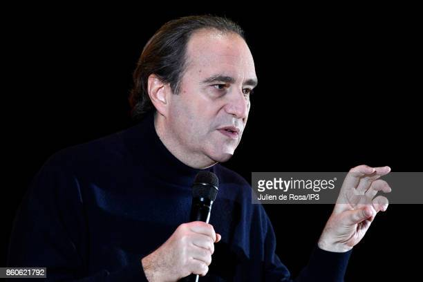 Vice chairman of Iliad Xavier Niel attends the third edition of Bpifrance INNO generation at AccorHotels Arena on October 12 2017 in Paris France...