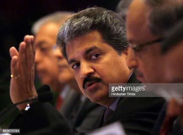 Vice Chairman of Mahindra and Mahindra Anand Mahindra adressing a press conference at Taj on monday in Mumbai