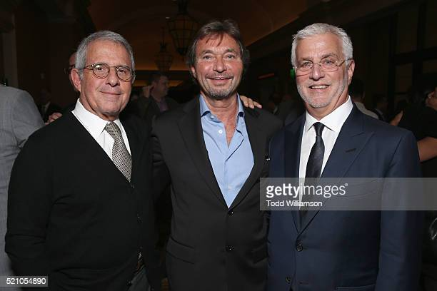 Vice Chairman of NBCUniversal Ron Meyer Lionsgate Cochairman Patrick Wachsberger and Lionsgate Cochairman Rob Friedman attend the 2016 Will Rogers...