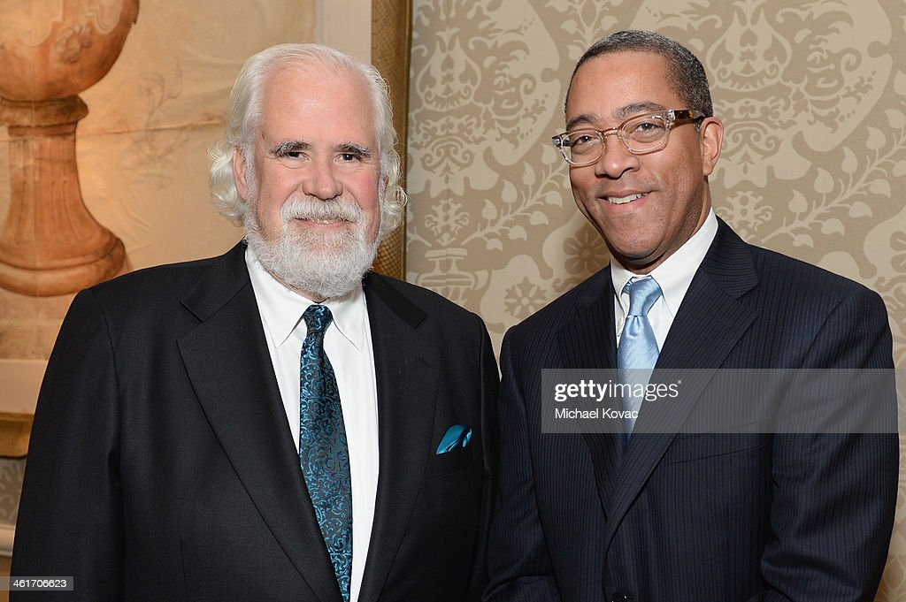 Vice Chairman of Sony Pictures Entertainment Jeff Blake (L) and president of theatrical marketing for the Columbia TriStar Motion Pictures Group Dwight Caines attends the 14th annual AFI Awards Luncheon at the Four Seasons Hotel Beverly Hills on January 10, 2014 in Beverly Hills, California.