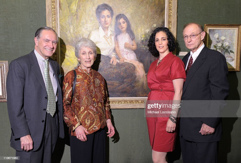 Vice Chairman of the Forbes Publishing Company Christopher 'Kip' Forbes, Mary Hulings, daughter Elizabeth Hulings and gallerist Jack Morris attend Reflections: Celebrating the Life of Clark Hulings An American Master at the Forbes Gallery on March 22, 2011 in New York City.