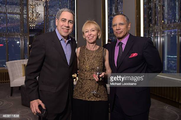 Vice Chairman of The New York Times Company Michael Golden Dylan Landis and executive editor of The New York Times Dean Baquet attend The New York...