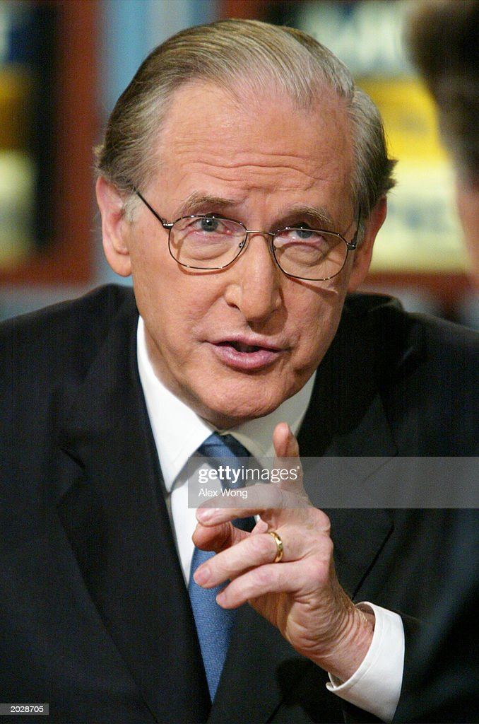 Vice Chairman of the Senate Intelligence Committee, U.S. Senator John D. Rockefeller (D-WV), gestures as he speaks during a taping of NBC's 'Meet the Press' at the NBC studios May 25, 2003 in Washington, DC. Senator Rockefeller spoke about various issues including homeland security, the war on terrorism and the situation in Iraq.