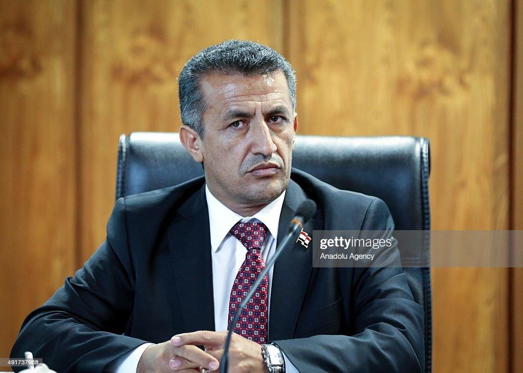 Vice chairman of the Yemeni Supreme Revolutionary Council Naif alQanis attends a meeting with Ali Akbar Velayati an adviser to Iran's Supreme Leader...