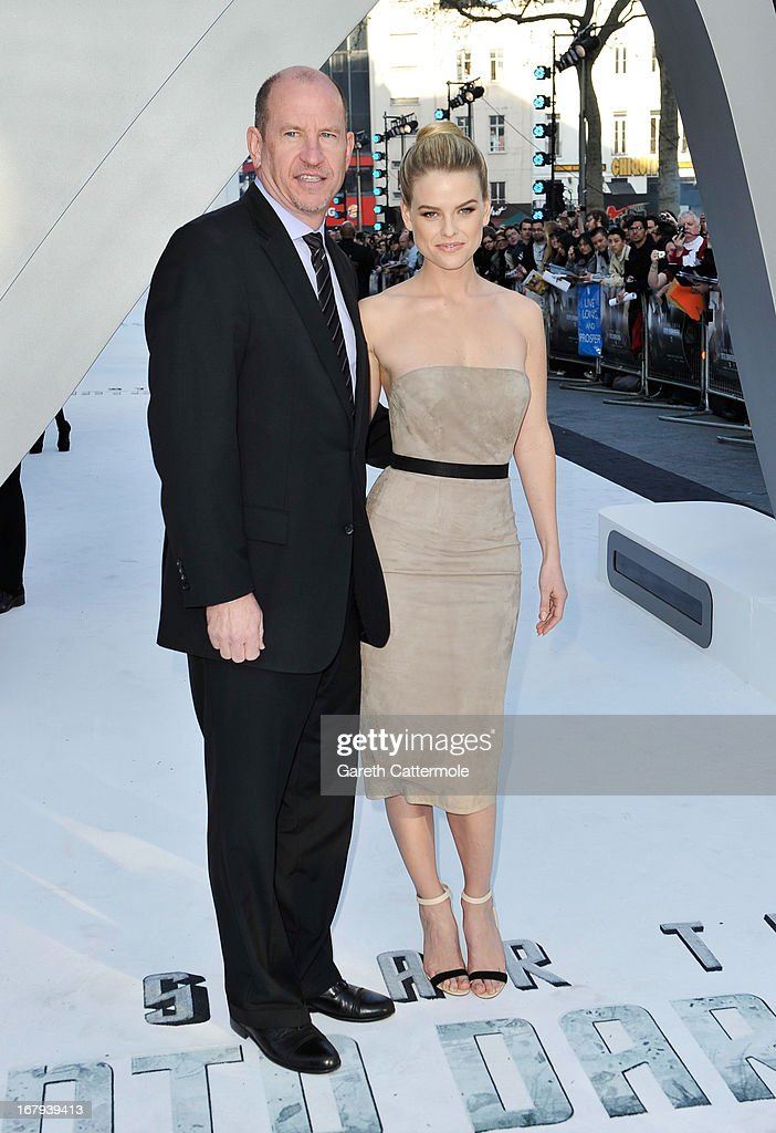 Vice Chairman Rob Moore and Alice Eve attend the UK Premiere of 'Star Trek Into Darkness' at The Empire Cinema on May 2, 2013 in London, England.
