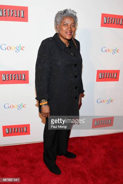 Vice Chairwoman of the Democratic National Committee Donna Brazile walks the red carpet at Google/Netflix White House Correspondent's Weekend Party...