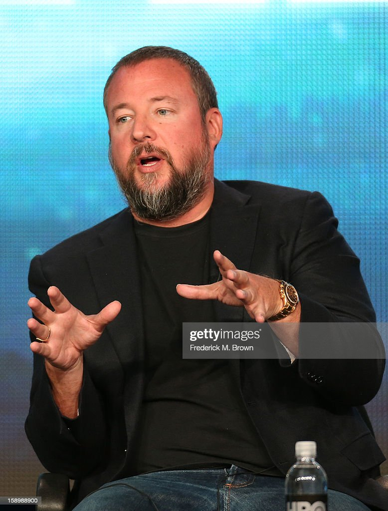 Vice Founder/ Executive Producer, Shane Smith speaks onstage during the 'Vice' news magazine panel discussion at the HBO portion of the 2013 Winter TCA Tourduring 2013 Winter TCA Tour - Day 1 at Langham Hotel on January 4, 2013 in Pasadena, California.