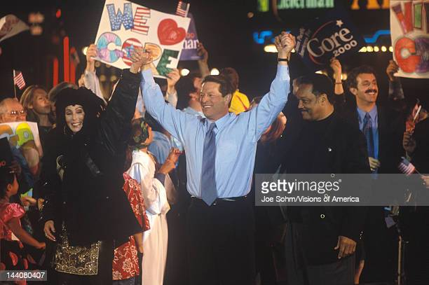 Vice President Al Gore at a Presidential rally for Gore/Lieberman on October 31st of 2000 in Westwood Village Los Angeles California