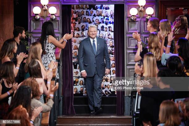Vice President Al Gore greets the audience during 'The Late Late Show with James Corden' Wednesday July 26 2017 On The CBS Television Network