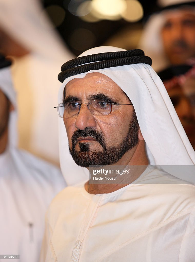 Vice President and Prime Minister and Ruler of Dubai, Sheikh Mohammed bin Rashid Al Maktoum attends the 10th annual Dubai International Motor Show on December 17, 2009 in Dubai, United Arab Emirates.