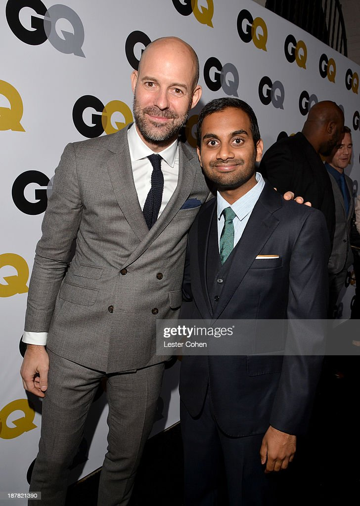 GQ Vice President and Publisher Chris Mitchell and comedian <a gi-track='captionPersonalityLinkClicked' href=/galleries/search?phrase=Aziz+Ansari&family=editorial&specificpeople=4266146 ng-click='$event.stopPropagation()'>Aziz Ansari</a> attend the GQ Men Of The Year Party at The Ebell Club of Los Angeles on November 12, 2013 in Los Angeles, California.