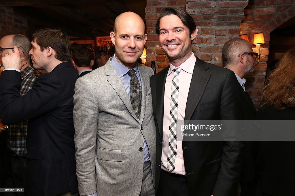 GQ Vice President and publisher Chris Mitchell (R) attends the GQ 'After Visiting Friends' book party on February 21, 2013 in New York City.