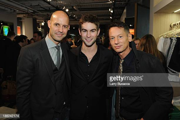 Vice President and Publisher Chris Mitchell Chace Crawford and editorinchief of GQ Magazine Jim Nelson attend the party to celebrate the launch of...