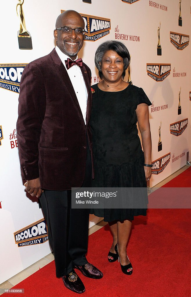 Vice President, Brand Marketing at Diageo Marc Strachan (L) and Chief Talent Officer Renetta McCann (R) attends the ADCOLOR Awards at The Beverly Hilton Hotel on September 21, 2013 in Beverly Hills, California.
