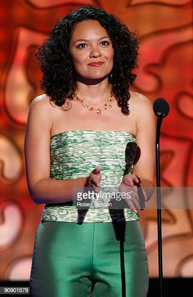 Vice President California Region Delia de la Vara speaks onstage at the 2009 ALMA Awards held at Royce Hall on September 17 2009 in Los Angeles...