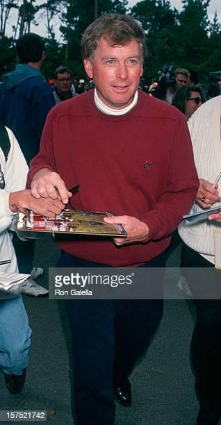 Vice President Dan Quayle attending 'ATT Pebble Beach National ProAm Golf Tournament' on February 3 1994 at Spyglass Hill Course at Pebble Beach in...
