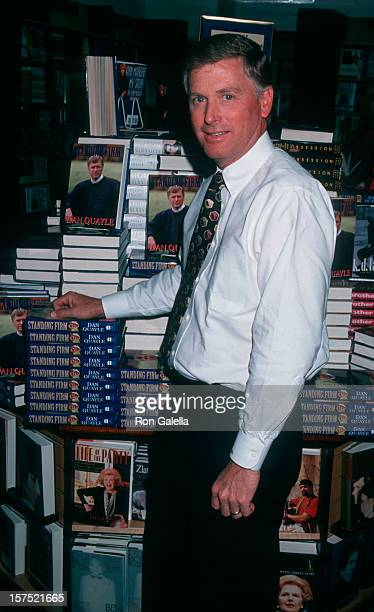Vice President Dan Quayle attending 'Dan Quayle InStore Appearance Signing New Book Standing Firm' on May 9 1994 at Barnes and Noble 5th Avenue Book...