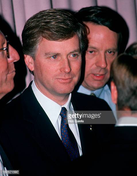 Vice President Dan Quayle attending 'Republican Lincoln Dinner Gala' on February 14 1990 at the Waldorf Hotel in New York City New York