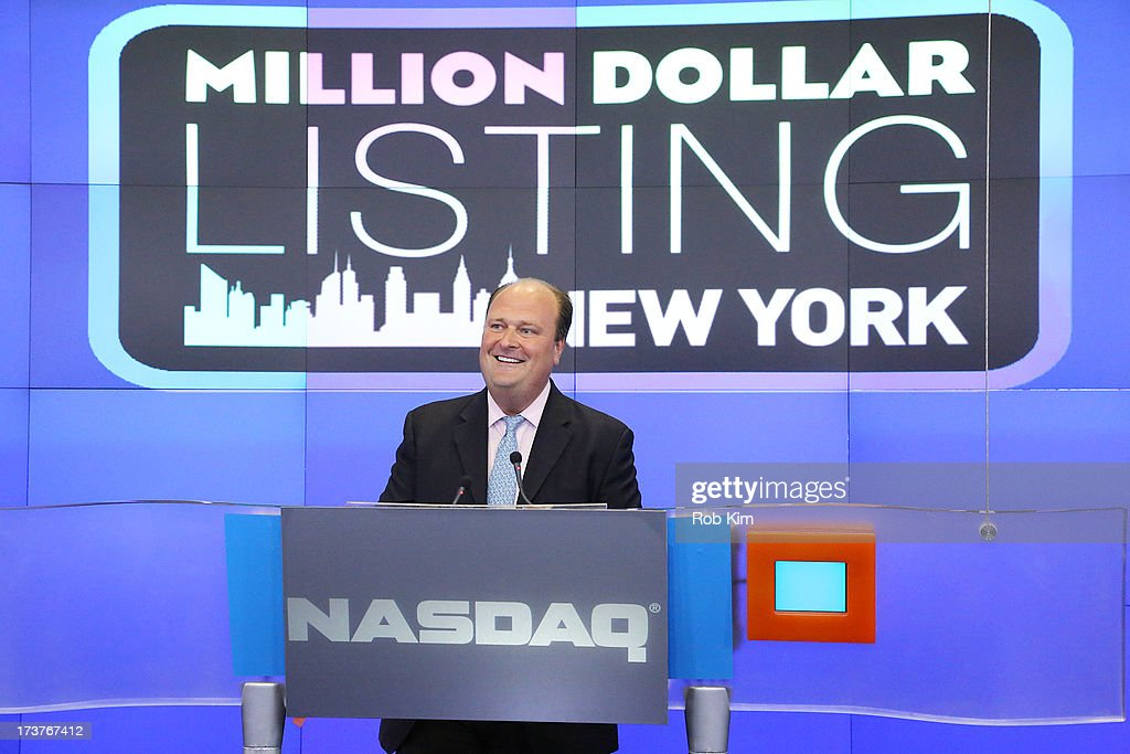 Vice President David Wicks at closing bell at NASDAQ MarketSite on July 17, 2013 in New York City.