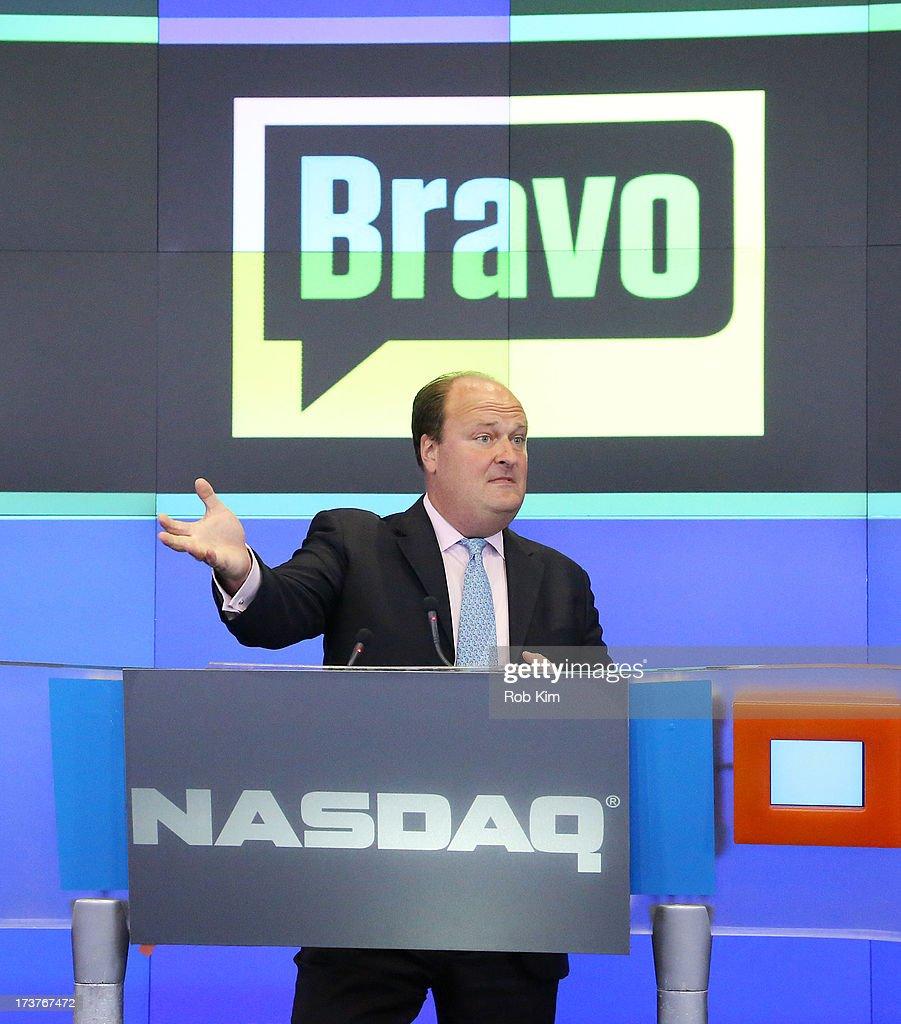 Vice President David Wicks at closing bell at NASDAQ MarketSite on July 17, 2013 in New York City.
