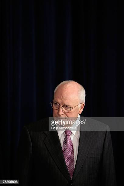 US Vice President Dick Cheney attends the ceremonial swearingin for Secretary of Veterans Affairs James Peake at the Department of Veterans Affairs...