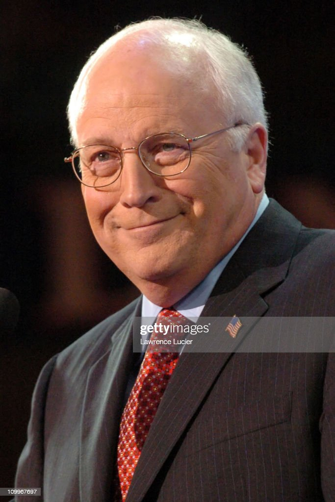 Vice President <a gi-track='captionPersonalityLinkClicked' href=/galleries/search?phrase=Dick+Cheney&family=editorial&specificpeople=125149 ng-click='$event.stopPropagation()'>Dick Cheney</a> during 2004 Republican National Convention - Day 3 - Inside at Madison Square Garden in New York City, New York, United States.