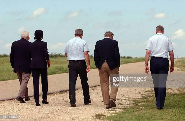 Vice President Dick Cheney National Security Advisor Condoleezza Rice President George W Bush Secretary of Defense Donald Rumsfeld and Joint Chiefs...