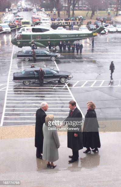 Vice President Dick Cheney photographed from 1975 to 2006 in Washington DC Pictured January 20 2001 Vice President Dick Cheney and his wife bid adieu...