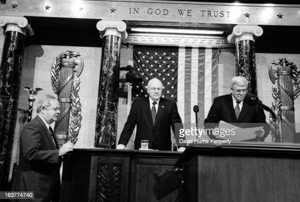 Vice President Dick Cheney photographed from 1975 to 2006 in Washington DC Pictured An official at the US House of Representatives Vice President...