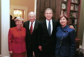 Vice President Dick Cheney photographed from 1975 to 2006 in Washington DC Pictured lr Lynne and Dick Cheney with President George W Bush and his...