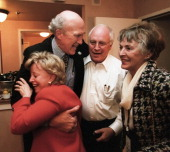 Vice President Dick Cheney photographed from 1975 to 2006 in Washington DC Former Senator Alan Simpson and his wife Ann with Dick Cheney and his wife...