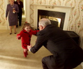 Vice President Dick Cheney photographed from 1975 to 2006 in Washington DC Pictured Vice President Dick Cheney reaches out to granddaughter Elizabeth...