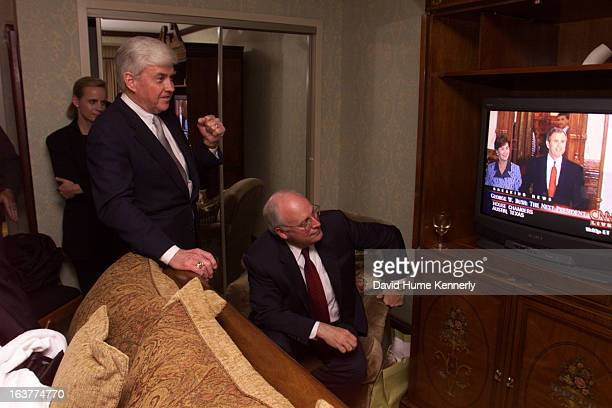 Vice President Dick Cheney photographed from 1975 to 2006 in Washington DC Pictured VPElect Dick Cheney and former VP candidate Jack Kemp watch as...