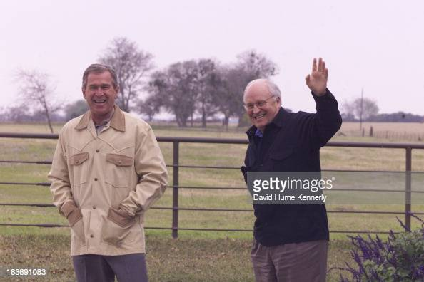 Vice President Dick Cheney photographed from 1975 to 2006 in Washington DC President George W Bush with Dick Cheney
