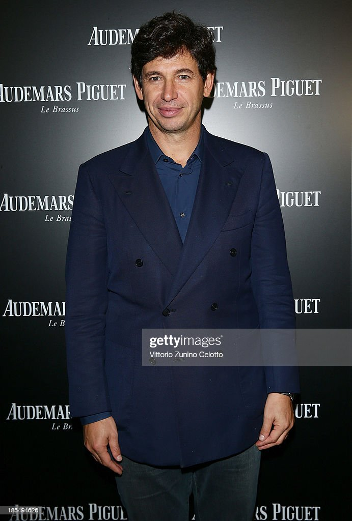 Vice President FIGC Demetrio Albertini attends Audemars Piguet Cocktail on October 21, 2013 in Milan, Italy.