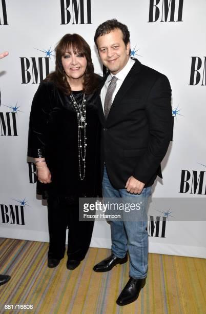 Vice President Film TV Visual Media Relations Doreen RingerRoss and composer Aaron Zigman at the 2017 Broadcast Music Inc Film TV Visual Media Awards...