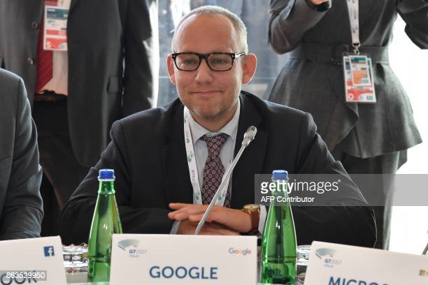 Vice President for Public Policy at Google Nicklas Lundblad attends before a working session of the G7 Interior Ministers with European Union...