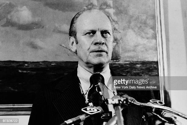 Vice President Gerald Ford holds news conference