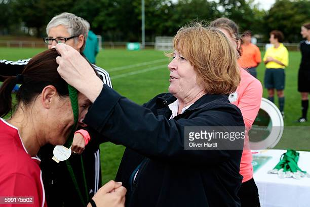 Vice President Hannelore Ratzeburg at the ceremony during the DFB Women's Over35 Cup 2016 at Day 02 on September 4 2016 in Hamburg Germany