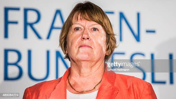 Vice President Hannelore Ratzeburg attends the Allianz Women's Bundesliga season opening press conference at DFB Headquarters on August 24 2015 in...