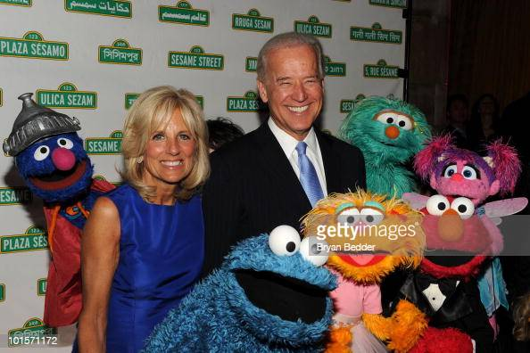 Vice President Joe Biden and Dr Jill Biden attend Sesame Workshop's 8th Annual Benefit Gala at Cipriani 42nd Street on June 2 2010 in New York City