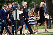 S Vice President Joe Biden and his wife Dr Jill Biden arrive with family for a mass of Christian burial at St Anthony of Padua Church for there son...