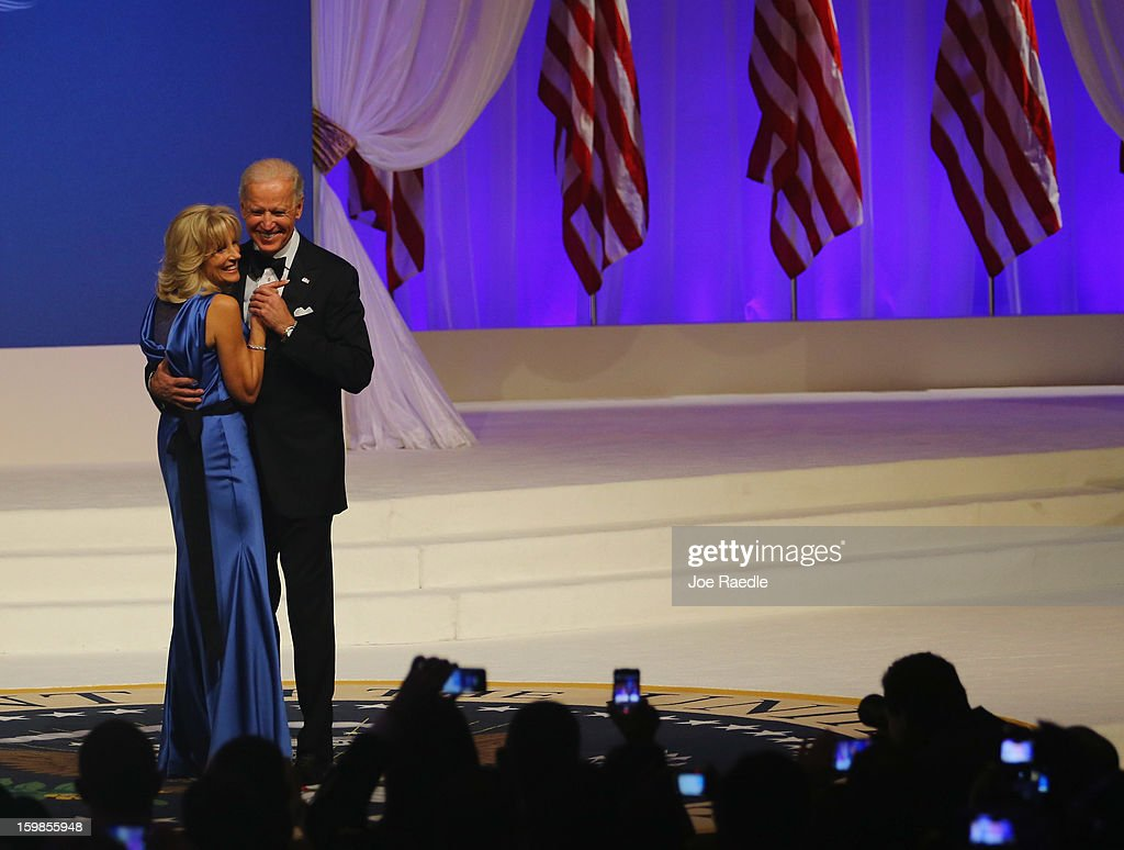 U.S. Vice- President Joe Biden and Jill Biden dance during the Commander-In-Chief's Inaugural Ball January 21, 2013 in Washington, DC. Obama was sworn in today for his second term in a public ceremonial swearing in..