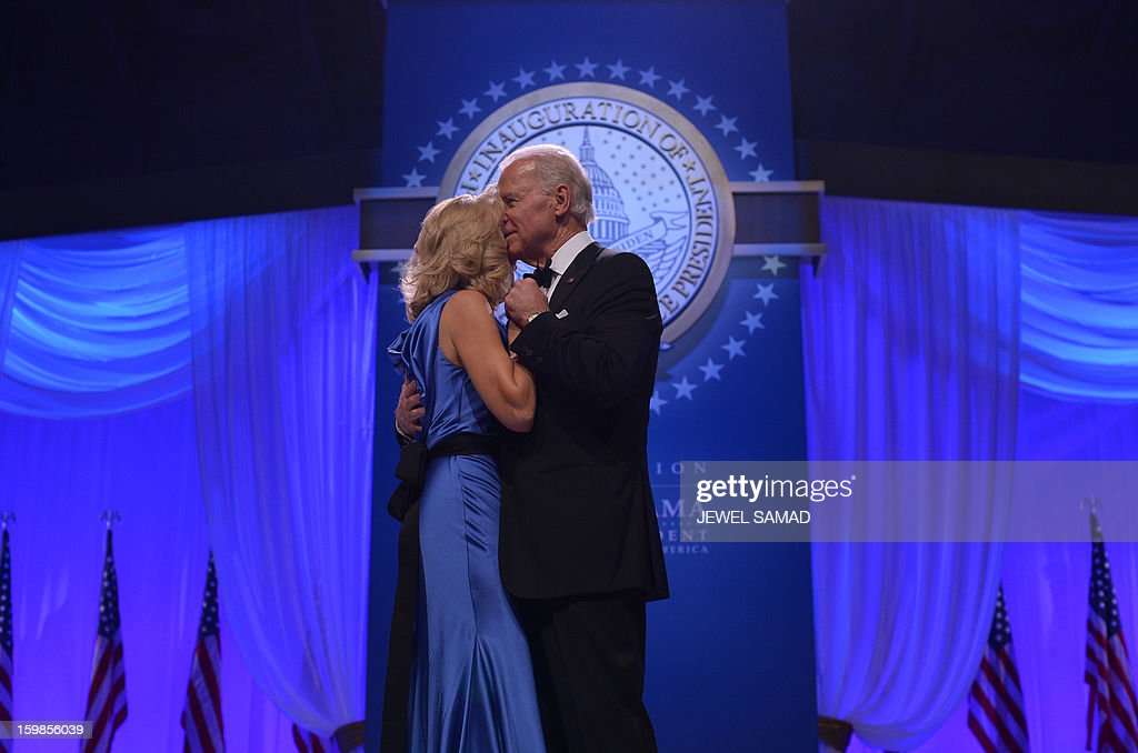 US Vice President Joe Biden and Second Lady Dr Jill Biden attend the Inaugural Ball at the Walter E. Washington Convention Center on January 21, 2013 in Washington, DC. AFP PHOTO/Jewel Samad
