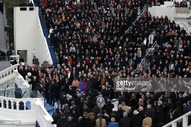 S Vice President Joe Biden is sworn in by Supreme Court Justice Sonia Sotomayor during the presidential inauguration on the West Front of the US...