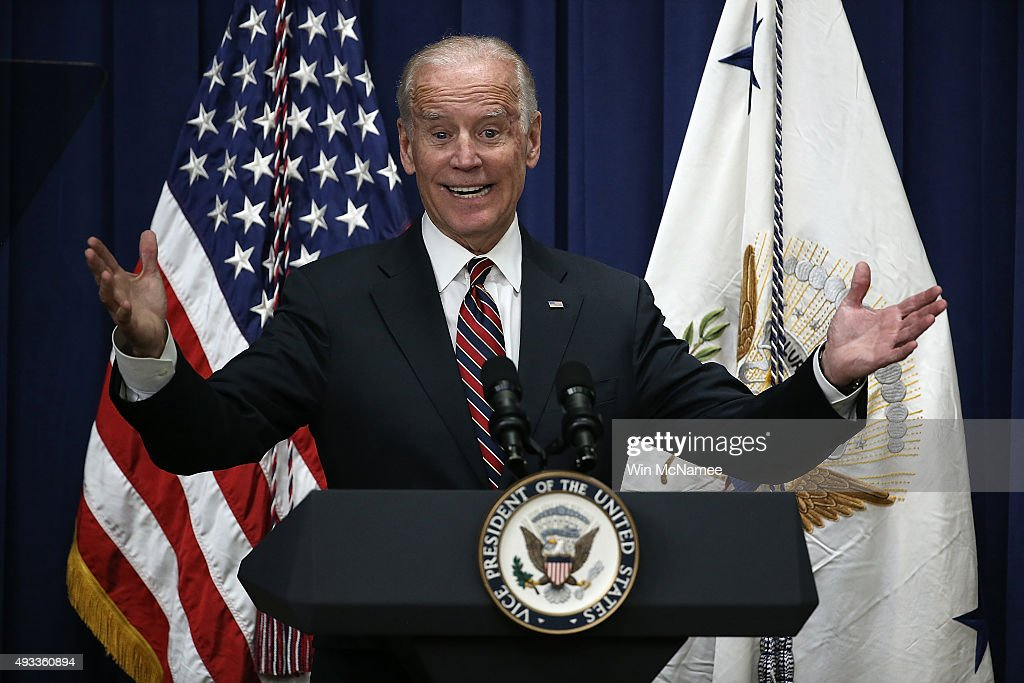 U.S. Vice President Joe Biden speaks at a White House summit on climate change October 19, 2015 in Washington, DC. Biden remains at the center of rumors regarding a potential campaign for the U.S. presidency.