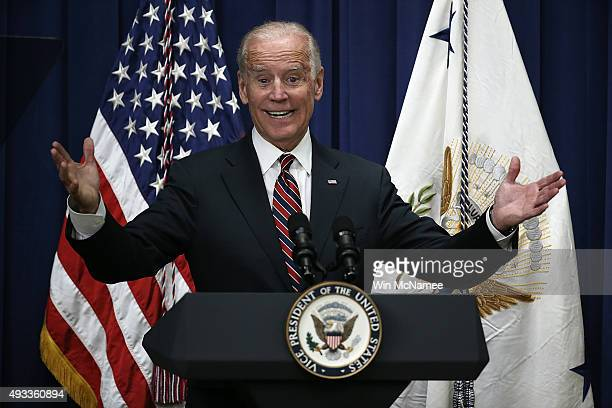 S Vice President Joe Biden speaks at a White House summit on climate change October 19 2015 in Washington DC Biden remains at the center of rumors...